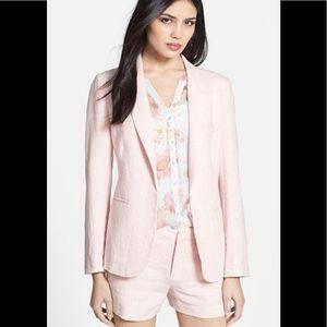 Joie Mehira Linen Blazer in Light Pink